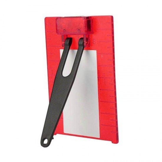 Laser-Zieltafel rot